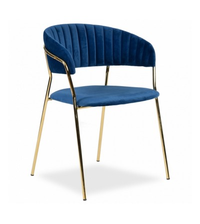 FEBA GRANATOWY krzesło tapicerowane velvet
