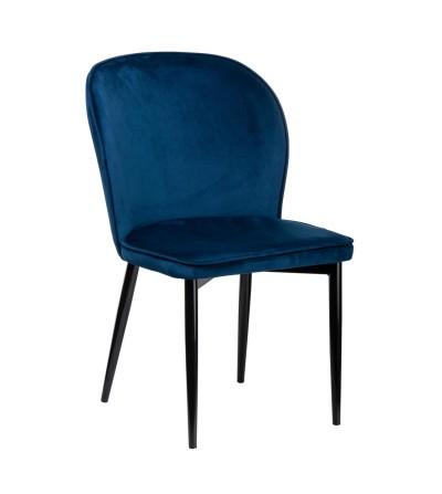 AINE GRANATOWE krzesło tapicerowane velvet
