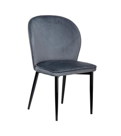 AINE SZARE krzesło tapicerowane velvet