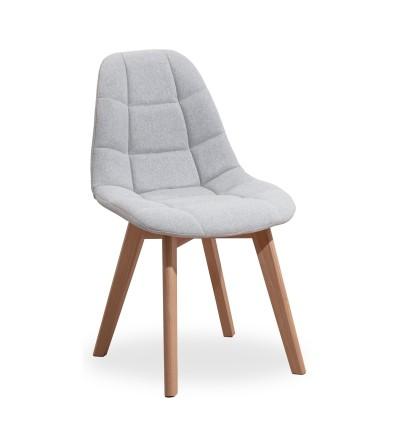 AMELIA JASNY SZARY krzesło tapicerowane