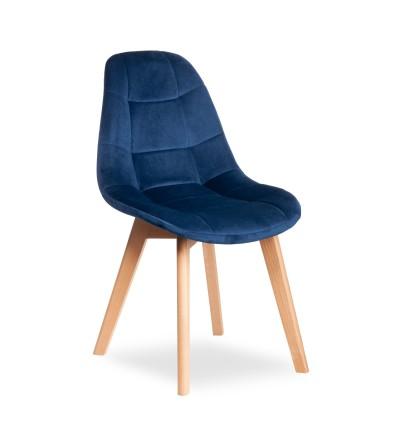 AMELIA GRANATOWE krzesło tapicerowane velvet