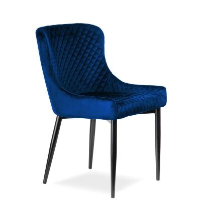 EAST GRANATOWE krzesło tapicerowane velvet