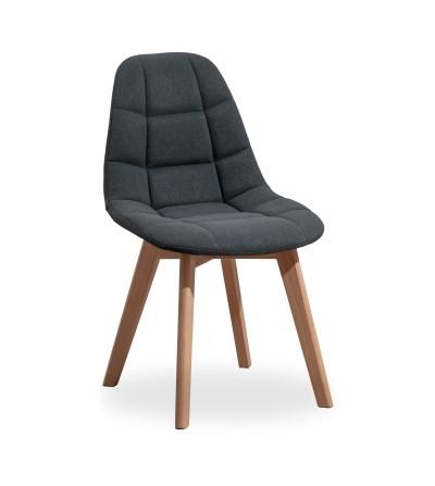 AMELIA CIEMNO SZARE krzesło tapicerowane