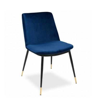 krzesło GREG tapicerowane velvet niebieski