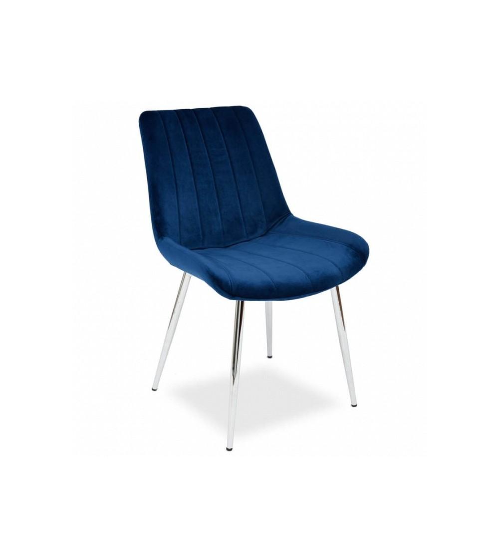 GINO GRANATOWE krzesło tapicerowane velvet