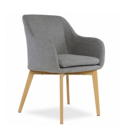 IVO CIEMNY SZARY krzesło tapicerowane velvet