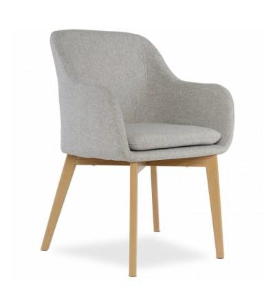 IVO JASNO SZARE krzesło tapicerowane