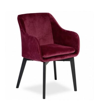 IVO BORDOWE krzesło tapicerowane velvet
