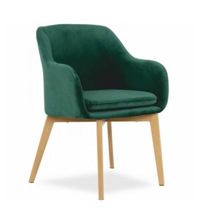 IVO ZIELONE krzesło tapicerowane velvet
