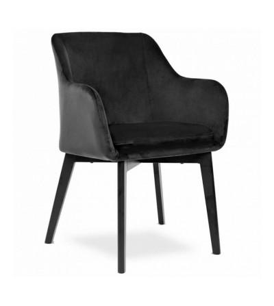 IVO CZARNE krzesło tapicerowane velvet