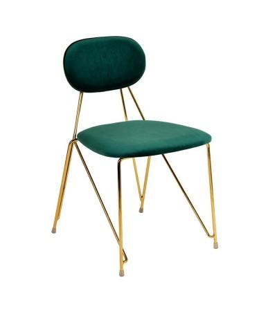 LAUR ZIELONE krzesło tapicerowane velvet