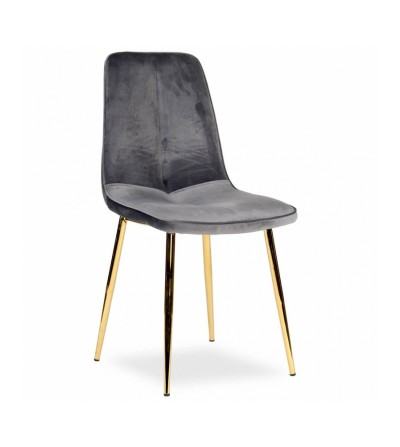 LENA SZARE krzesło tapicerowane velvet
