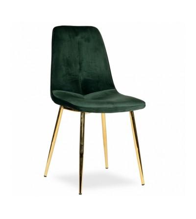 LENA ZIELONE krzesło tapicerowane velvet