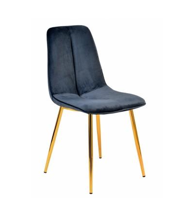 LENA STALOWY krzesło tapicerowane velvet