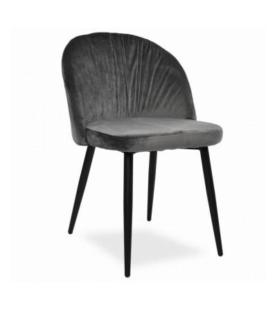 MARKO CIEMNO SZARE krzesło tapicerowane velvet