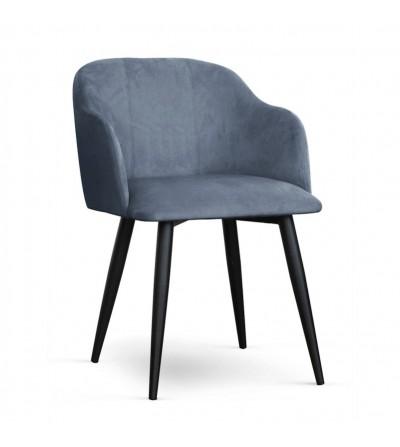 DANY SZARE krzesło tapicerowane velvet