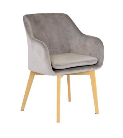 IVO BEŻOWE krzesło tapicerowane velvet