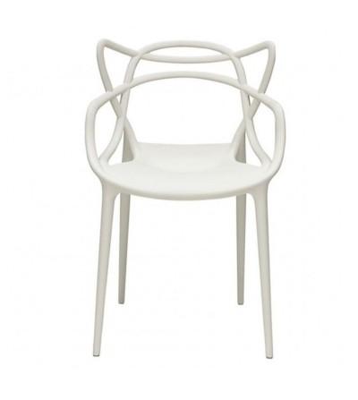 MASTERS BIAŁE plastikowe krzesło