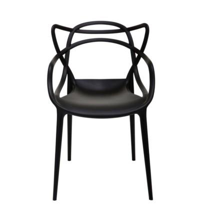 MASTERS CZARNE plastikowe krzesło