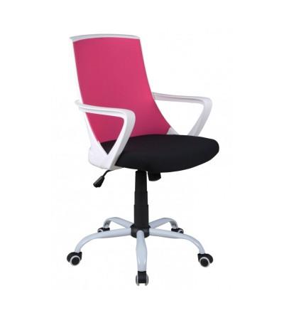 Fotel obrotowy FK-0722M różowy