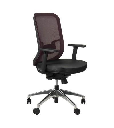 Fotel obrotowy GN-310  BORDO chrom