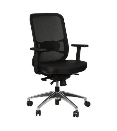 Fotel obrotowy GN-310 CZARNY chrom