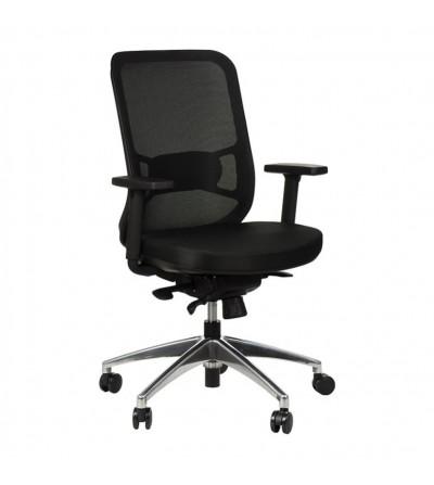 Fotel obrotowy GN-310 SZARY chrom