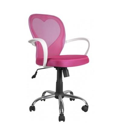 Fotel obrotowy SERCE różowy FK-1447