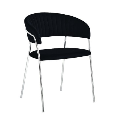 FEBA CZARNY krzesło tapicerowane velvet