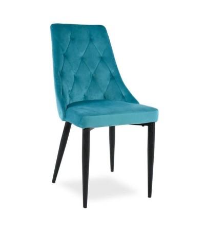 CAREN TURKUSOWE krzesło tapicerowane velvet