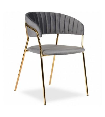 FEBA SZARY krzesło tapicerowane velvet