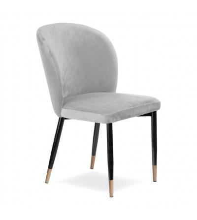 RIO JASNO SZARE krzesło tapicerowane velvet