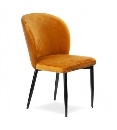 RIO MUSZTARDOWE krzesło tapicerowane velvet