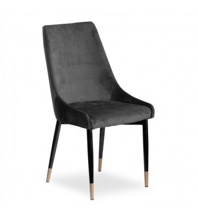 FAREL II CIEMNO SZARE krzesło tapicerowane velvet