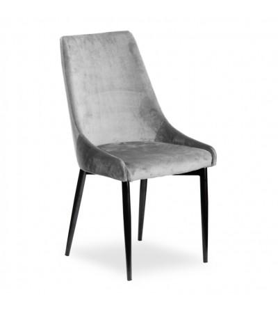 FAREL JASNO SZARE krzesło tapicerowane velvet
