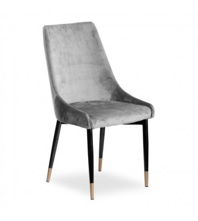 FAREL II JASNO SZARE krzesło tapicerowane velvet