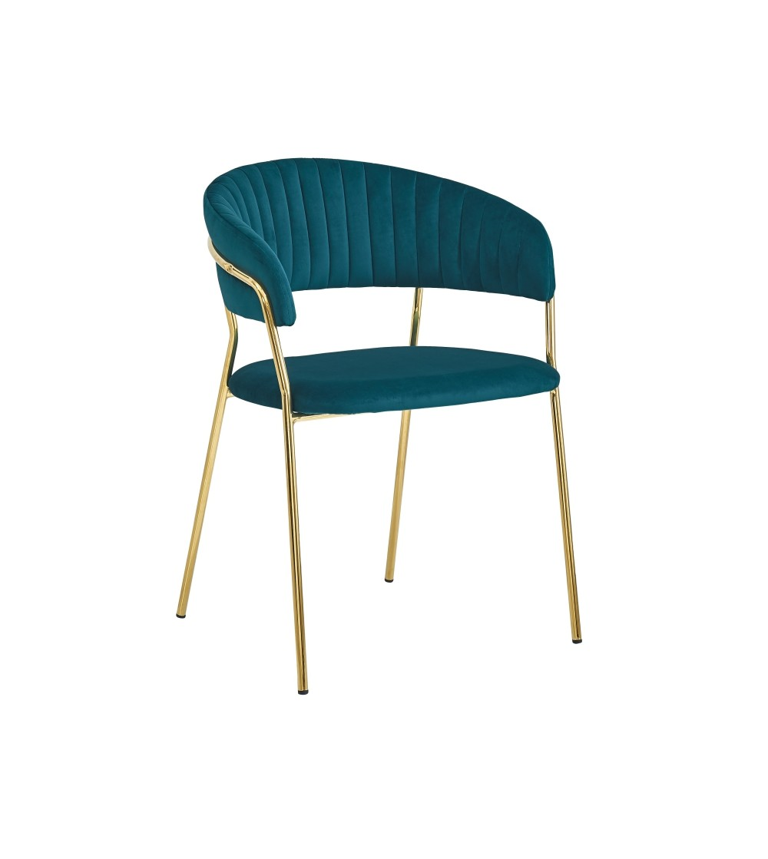 FEBA TURKUSOWY krzesło tapicerowane velvet