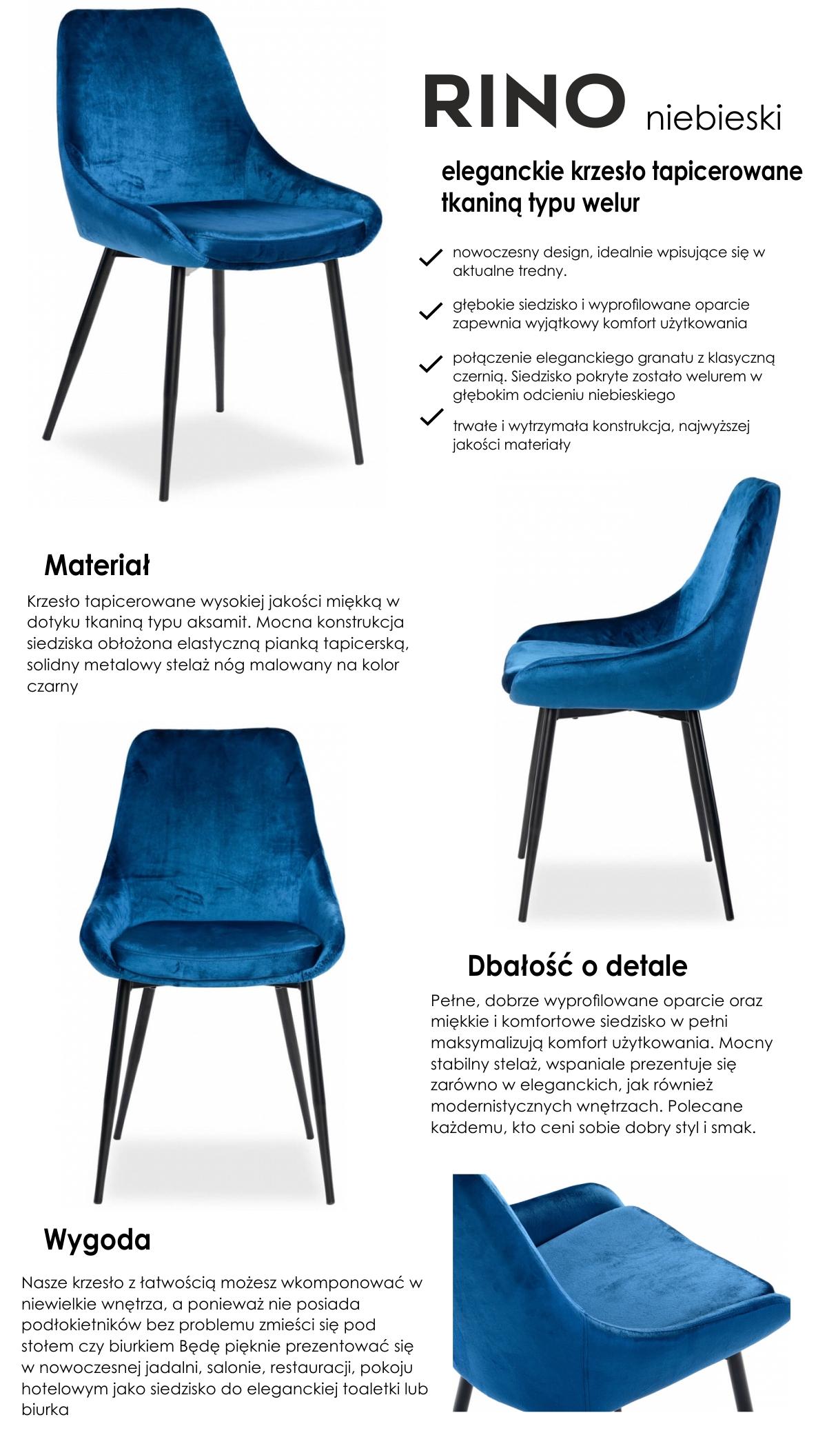 Krzesło Rino Sklep Fajnekrzeslapl
